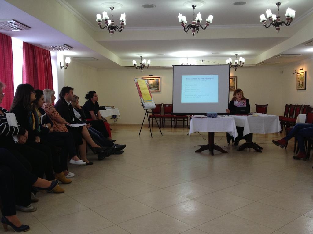 Biljana Lajovic holder sin forelesning