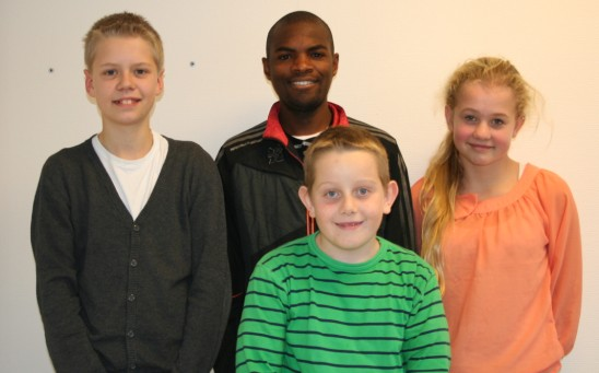 Moses sammen med Ane-Julie, Lars Ivar og Oskar