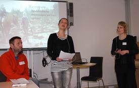 Tolker fra tolketjenesten i oslo og Akershus. Fra venstre Gøran Forsgren, Tuva Andresen og Torunn Aurstad.