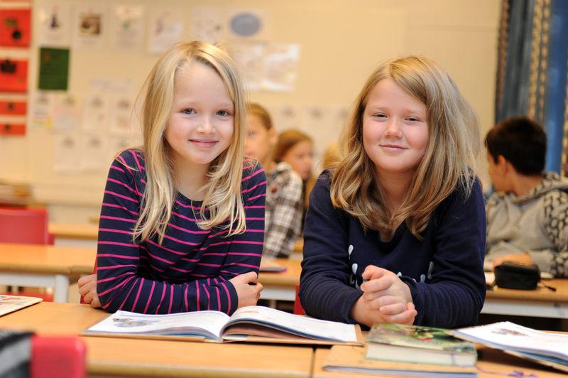 Skolebarn. Foto: Esben Haakenstad