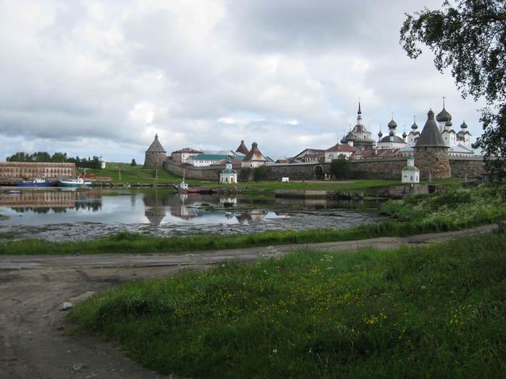 bilde av natur og bygninger i Solovki
