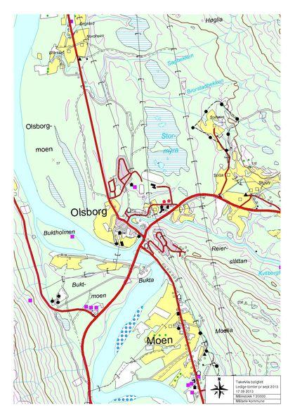 Oversiktskart Moen Olsborg