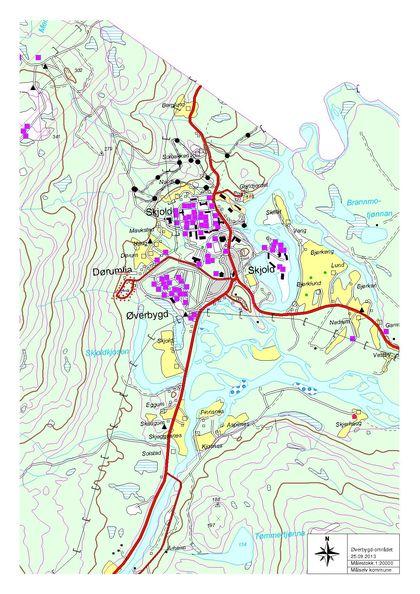 Oversiktskart Øverbygdområdet