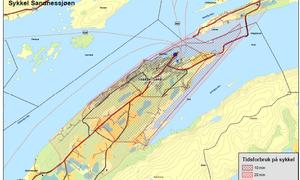 Sykkelavstander Sandnessjøen