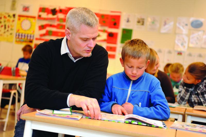 I klasserommet. Foto: Esben Haakenstad