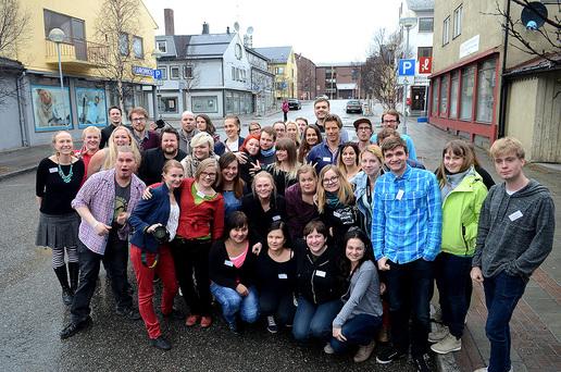 Lørdag samlet alle ungdomsdeltakerne på Barents Press årsmøtet seg i Barentssekretariatets lokaler til Youth Gathering.