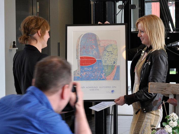 Overrekkelse av kulturpris. Foto: Henning Lystad
