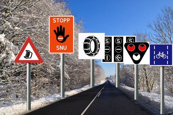 Diverse trafikkskilt
