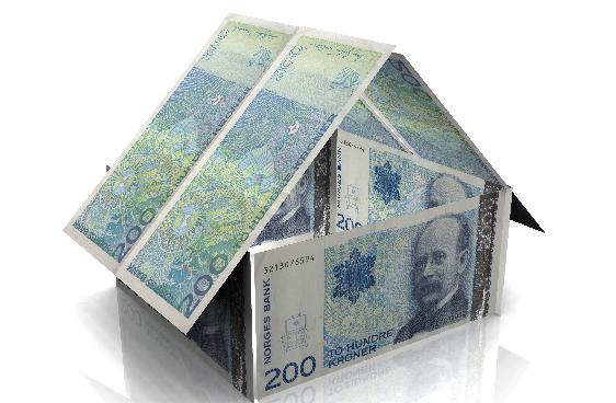 Hus laga av sedlar
