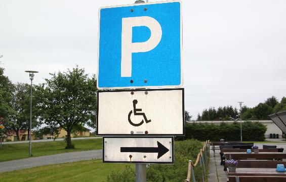 Parkeringskilt for dei med særskild løyve