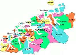 Kart over Møre og Romsdal