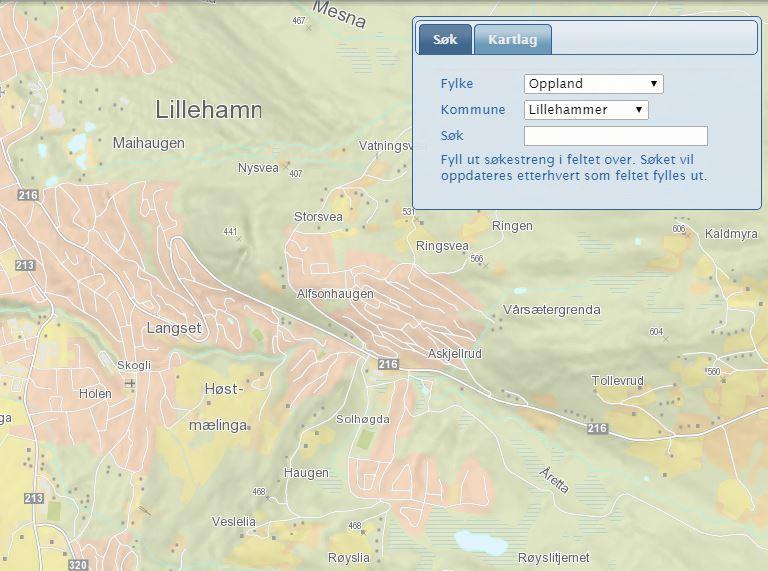 lillehammer kart Våre kart   Lillehammer kommune lillehammer kart