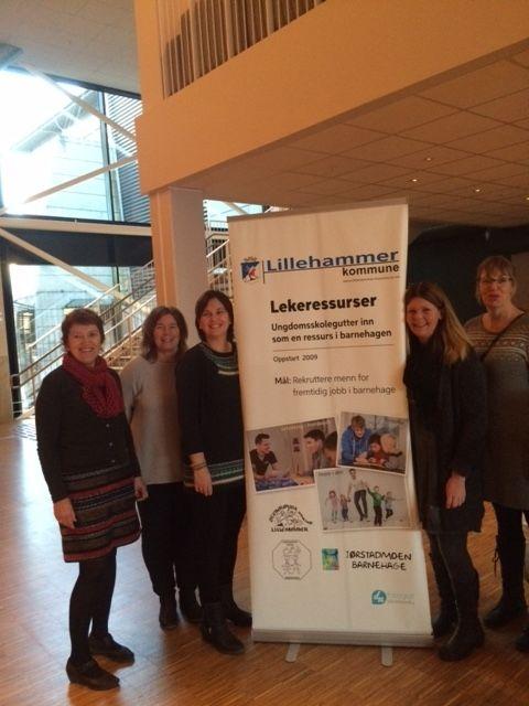 På konferanse: Marianne Slåen Bruket, Jennie Furulund, Anita Kval Lohnsveen, Tove-Merete Åsegg Simensen og Agnes Olafson Lundemo.