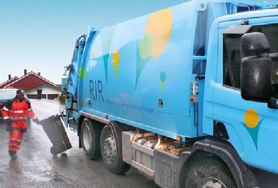 Søppelbil frå RIR