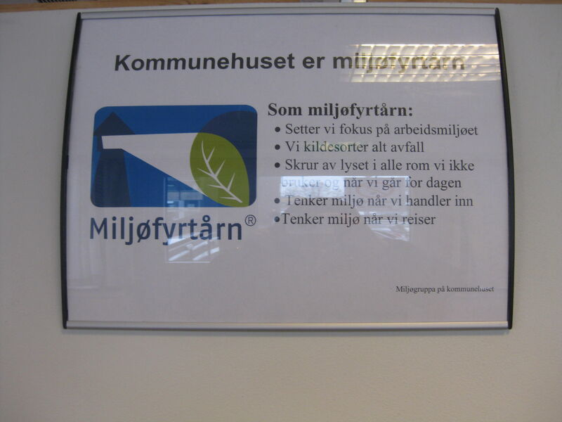 Miljøfyrtårn plakat