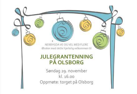 Julegrantenning på Olsborg