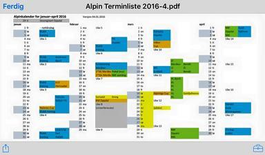 Terminliste alpint 2016