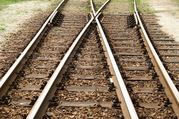 illustrasjon på transport. Jernbanespor