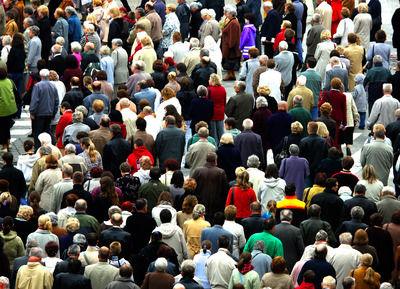 illustrasjonsbilde til befolkningssammensetning. Mange mennesker samlet