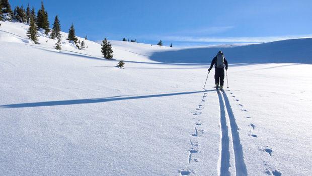 Bilde av skispor
