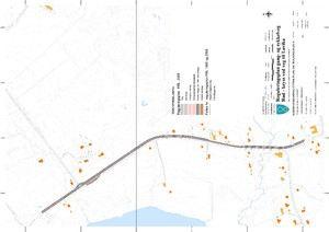 Plankart gang- og sykkelveg Rød- kryss ved veg til Løvika
