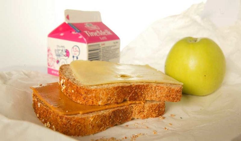 Skulemjølk og nistepakke