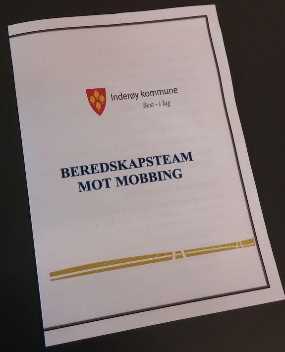Brosjyre beredskapsteam mot mobbing