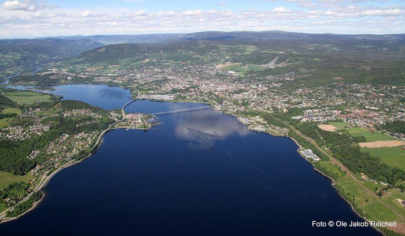Lillehammer, sommer. Foto Ole Jakob Reichelt.