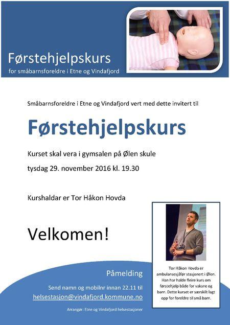 Plakat førstehjelpskurs