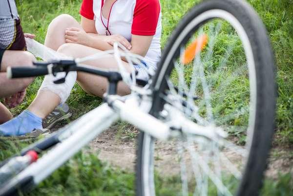 Illustrasjon av sykkelulykke