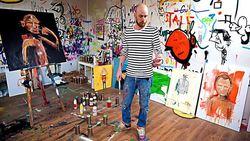 Portrett Ståle i atelier