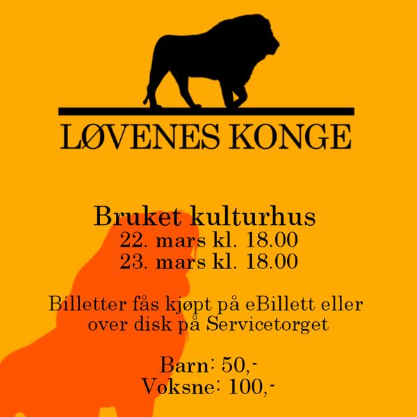 """Plakat """"Løvenes konge"""""""