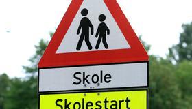 Bilde av skolestart-skilt