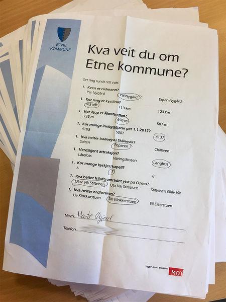 Quiz vinnar