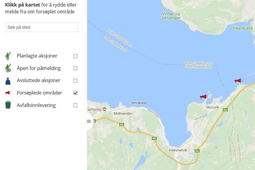 Ryddeportalen til Hold Norge Rent
