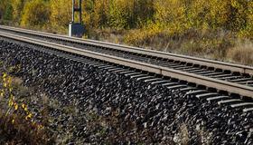 Bilde av jernbanespor