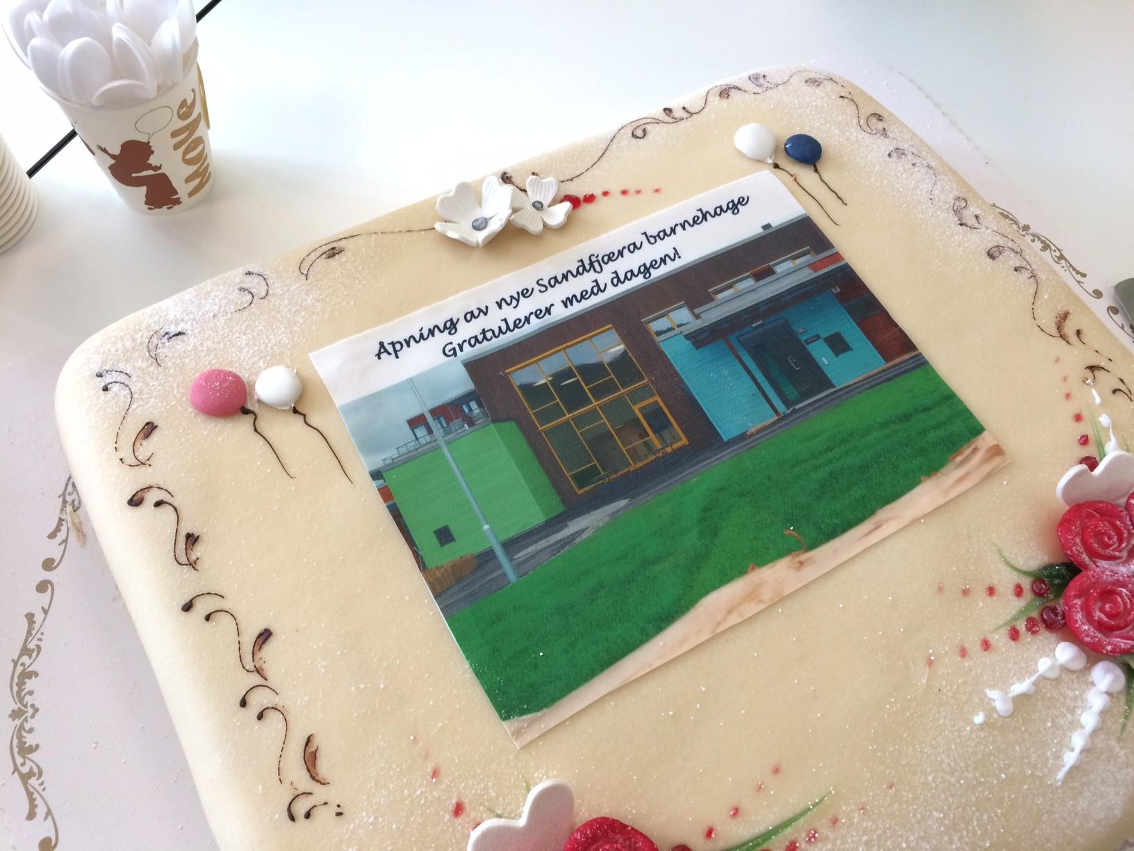 Bilde av Sandfjæra barnehage-kake