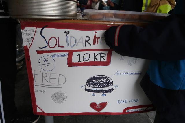 Plakat av solidaritetscafé