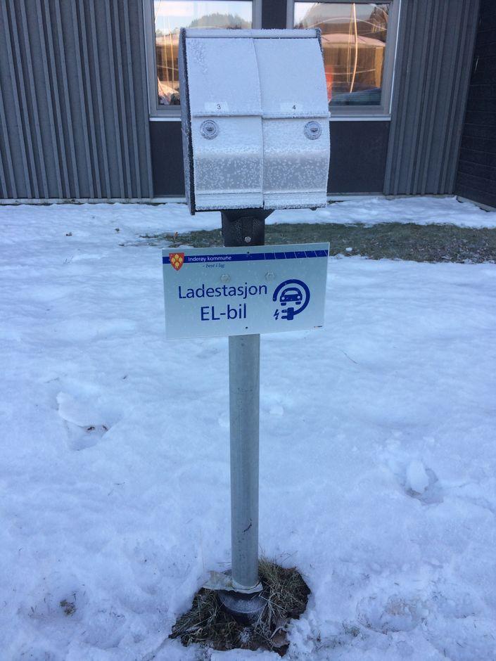 Ladestasjon Inderøy rådhus