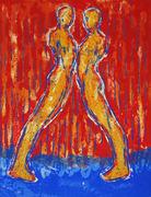 Rødt par mot hverandre