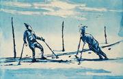 Nytt par på ski