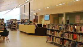 Bilde av Hommelvik bibliotek - interiør