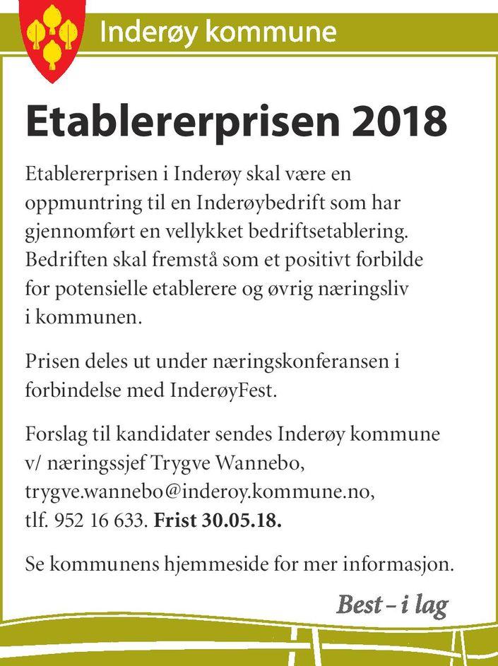 Etablererprisen 2018