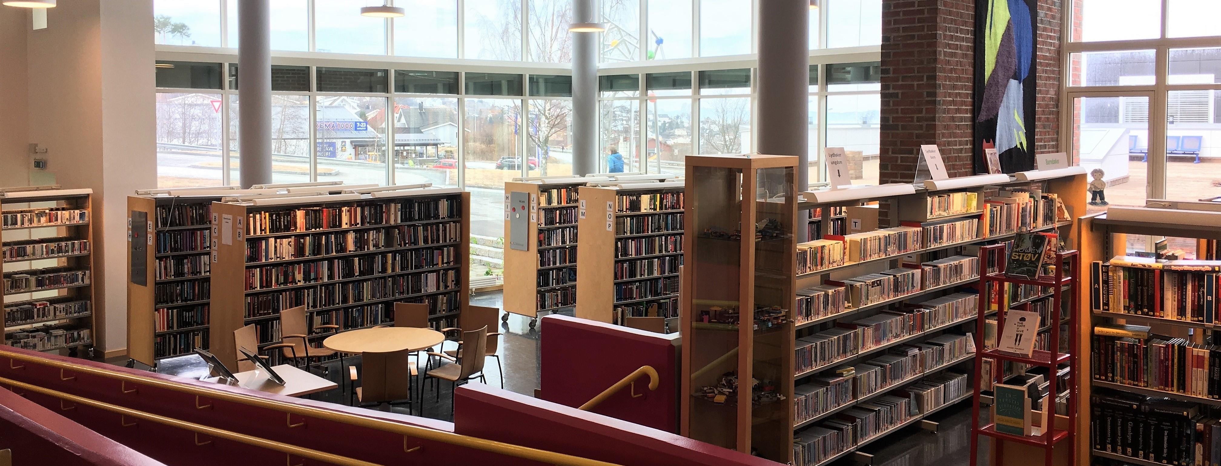 Bilde av biblioteket på Vikhammer