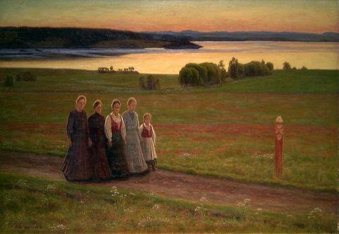 Sankthansnatt av Einar Øfsti