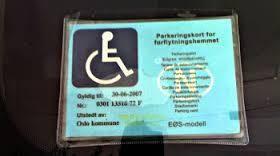 Parkeringskort for forflytningshemmede