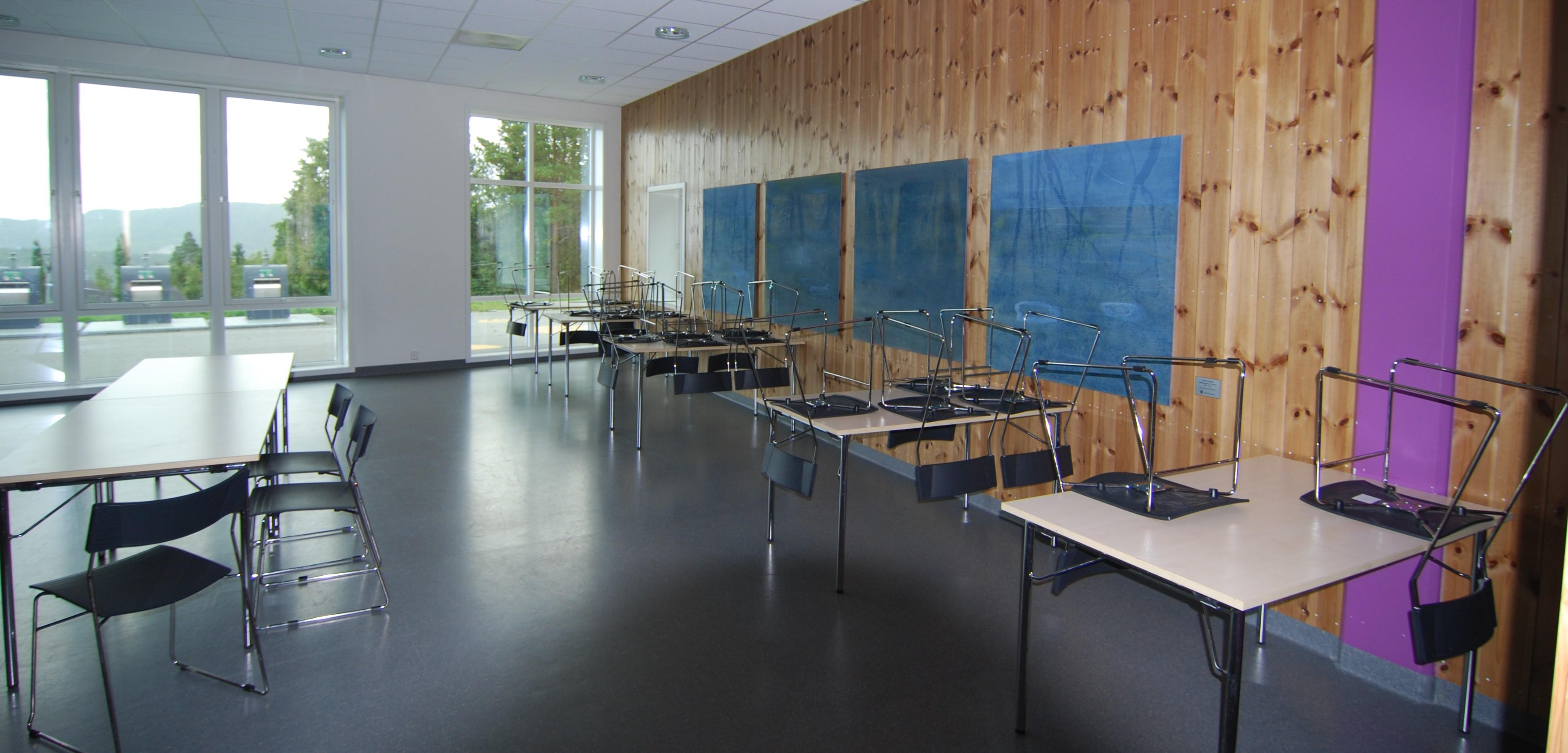Bilde av selskapslokale på Sveberg grendahus