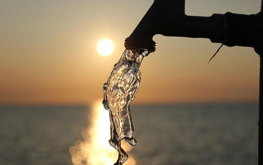 Vann i fra kran