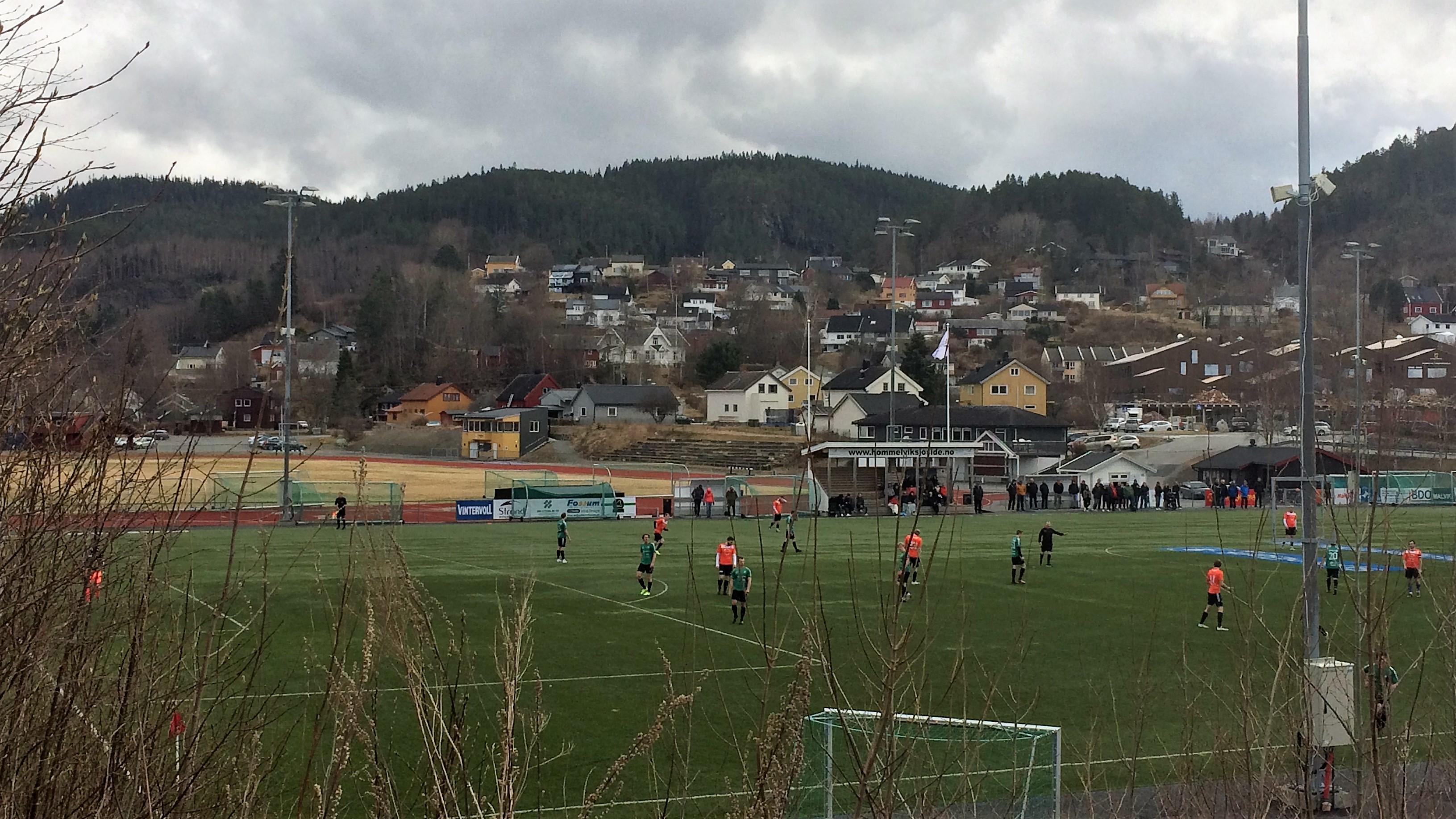 Bilde av Øya Stadion i Hommelvik