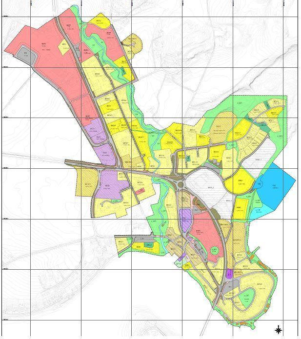 Reguleringsplan Straumen sentrum plankart